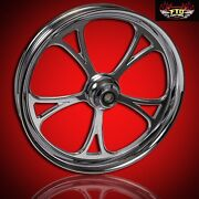 2008-2019 Harley Chrome 23 Inch Front Wheel And Floating Rotors Cyclone
