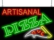 Artisanal Pizza Neon Sign | Jantec | 32 X 20 | Freshly Served Hand Tossed Made