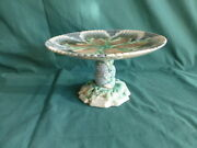Antique Etruscan Shell And Seaweed Majolica Cake Stand