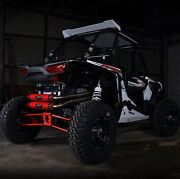 Barker Full Dual Exhaust System Red Black Clamp Polaris Rzr Xp 1000 Xp1000