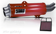 Hmf Can Am Brp Commander 800 2011 2012 2013 Red Dual Slip On Exhaust Kandn Filter