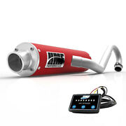 Hmf Performance Full System Exhaust Pipe Candy Red + Efi Optimizer Raptor 700