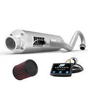 Hmf Performance Full System Exhaust Pipe Brushed + Efi Optimizer + Kandn Ds 450