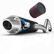 Hmf Competition Comp Full System Exhaust Pipe + Kandn Air Filter Yamaha Raptor 250