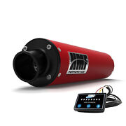 Hmf Performance Red Slip On Exhaust And Efi Yamaha Raptor 700 2006 - Current