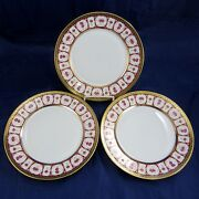 Haviland And Parlon 3 Piece Lot Rose Dand039or Golden Roses 10 Dinner Plates Dishes