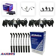 8 Bs-c1511 Ignition Coils + 8 Oem Spark Plug Wires + 2 Brackets And Harnesses