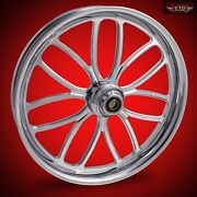 2000-2007 Harley Chrome 23 Inch Front Wheel Floating Rotors Viper
