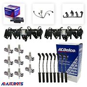 8 Bs-c1511 Coils + 8 4303 Spark Plugs + 8 Oem Wires+ 2 Brackets+ 2 Harnesses