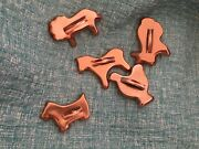Copper Tin Animal Cookie Cutters Lion, Rabbit, Horse, Dog, And Bird