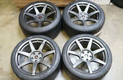 19 Project 6gr7 Gloss Graphite Wheels And Michelin Tires Ford Mustang S550 S197