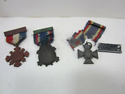 3 1883 Sons Of Union Civil War Veterans Auxillary Medals