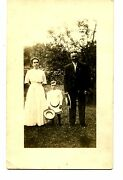 Identified Young Couple-son-m/m Baird-outdoors-rppc-vintage Real Photo Postcard