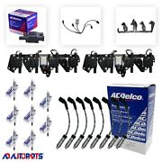 8 Bs-c1511 Coils +41-962 Plugs + Oem Wires W/heat Shields + Brackets And Harnesses