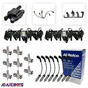 8 D513a Coils +4303 Spark Plugs + Acd Wires W/heat Shields +2 Bracketsandharnesses