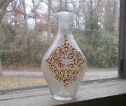 Early Pontiled Swirled Pattern Cologne Bottle Crude Flared Lip Scrolled Decor