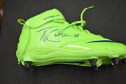 Thomas Rawls Game Used Cleats Seahawks Green Color Rush Autographed Jsa Pair