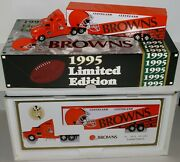 Cleveland Browns Tractor Trailer Truck Transporter Metal Die Cast Scale 164