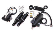 Dirty Air Stealth Front And Rear Air Ride Shocks Suspension Fast-up Kit Harley 80+