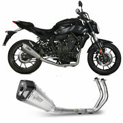 Full System Motorcycle Mivv Yamaha Mt-07 2016 16 Exhaust Delta Race Steel High