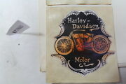 Harley Motor Co 3 Round Sticker Decal Old 1950s Vintage Collectibles Eps19665