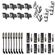 8 Herko Coils +8 Bosch Spark Plugs +8 Herlux Wires +2 Acdelco Brackets And Harness