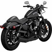Vance And Hines Black Powder-coated Upsweep 2-into-1 Exhaust System - 47624