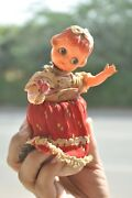 Vintage Wind Up Doll Playing/ Dancing Celluloid And Tin Toy, Japan
