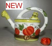 Frog Watering Can And Pumpkin , Limoges Boating Number 38 New