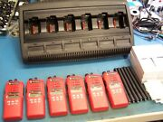 6 Motorola Ht1250 Vhf 136-174mhz W/wpln4197 Charger 128 Ch Mint Red Tested