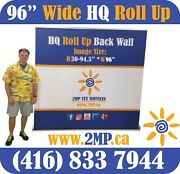 Luxury Hq 96 Trade Show Retractable Roll Up Banner Stand Pop Up Display + Print