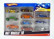 Hot Wheels 10-car Pack Die-cast Cars Exclusive Decoration Mib Complete 2007