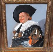James H. Morehead The Laughing Cavalier After Franz Hals Acrylic Board Painting