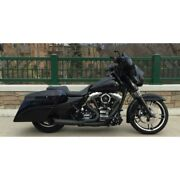 Dandd Black 21 2-into-1 Stubby Cat Full Exhaust System Harley Touring 2009-2016