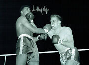 Sir Henry Cooper Signed Autograph Boxing Fights Ali 16x12 Photo Aftal Coa