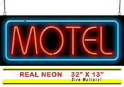 Motel Neon Sign   Jantec   32 X 13   Hotel Room Travel Vacancy Bed And Breakfast