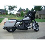 Dandd Fat Cat 21 Exhaust System Black Back Cut Louvered Baffle Harley Touring