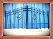 On Sale Inc Post Package Driveway Gate 11and039 Or 12and039 Wd Steel Yard Home Security