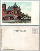Norwich Ct Central Fire Station Undivided Antique Postcard