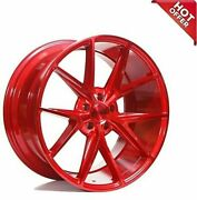 Fit Cls Clk 20 Staggered Niche Wheels M186 Misano Gloss Red Popular Rims