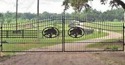Wrought Iron Style Steel Driveway Gate 18 Ft Wd Ds Home Security