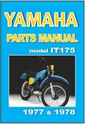 Yamaha Parts Manual It175 1977 And 1978 Vmx Spares Catalog List It175d And It175e