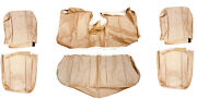 Volvo 240 Sedan Beige Leather Upgrade Seat Cover Upholstery Complete Set 1986-93