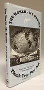 Scarce Signed The World My Oyster Thank You Pan Am Airline Stewardess Bio Hbdj