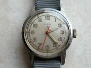 Vintage S / Steel Military Style Elgin Wrist Watch With Hacking Function.
