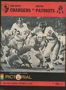 September 9 1967 Afl Program Boston Patriots At San Diego Chargers Exmt