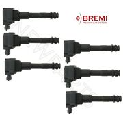 For Porsche 911 Boxster Set Of 6 Ignition Coils With Spark Plug Connector Bremi