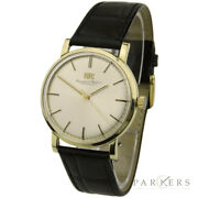 Vintage 14k Gold Hand-wind Mechanical Wristwatch 2400 Dating Circa 1970and039s
