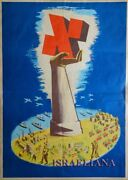 Extremely Rare Election Old Poster מפאי Israel 1940-50 Jewish Art Advertisement