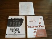 Vintage Cushman Parts Book And Price List Book